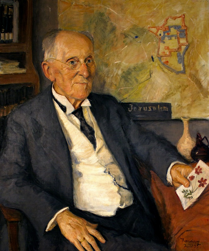 Gustaf Dalman aged 80 years (K. v. Kardorff, 1935, Photo: R. Wehning, Copyright: Gustaf Dalman Institute)