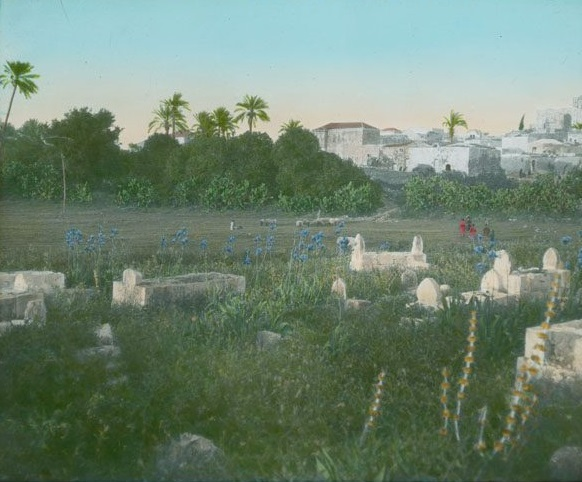 Jenin and Cemetery (Slide, 1911, Copyright: Gustaf Dalman Institute)